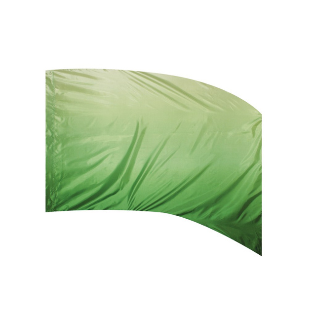Poly Silk Flag  Arced GREEN