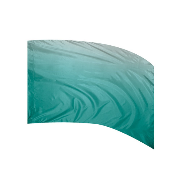 Shaded Poly Silk Flag TEAL